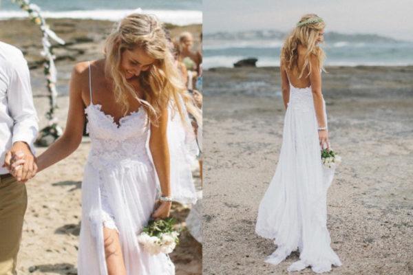 super popular 5b561 bb16f Abiti da sposa per matrimonio sulla spiaggia – Vestiti da ...