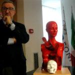 """""""Femminicidio"""" la scultura di Guadagnuolo all'Istituto Matteotti"""