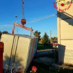 Autocarro in un fossato: intervengono i Vigili del Fuoco
