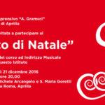 """Concerto di Natale dell'Istituto Comprensivo """"A.Gramsci"""" dedicato ad Andrea Di Gioia"""