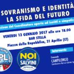 """""""Sovranismo e identità"""": la sfida del futuro di Noi con Salvini"""