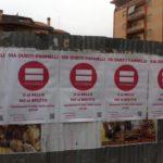 """La protesta anti-deturpamento di """"Aprilia possibile"""""""