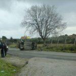 Autovettura si ribalta in zona Fossignano