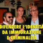 Mario Borghezio arriva ad Aprilia