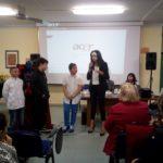 Maria Grazia Cucinotta alla scuola Matteotti di Aprilia