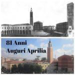 Buon compleanno Aprilia per i tuoi 81 anni