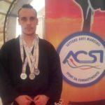 Tre medaglie d'argento per il karateka apriliano Emanuele Casilli