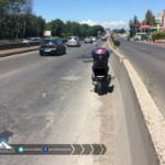 Problemi sulla Pontina per un motociclo in avaria