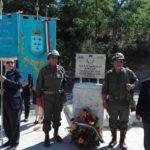 Monumento ai caduti presso la stazione di Campoleone