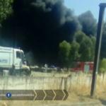 Incendio sulla Pontina: problemi a Castel di Decima
