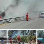 Incendio a Via dei Giardini: chiusa la Pontina