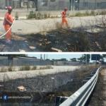 Incendio ed incidente sulla Pontina, direzione Roma