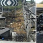 Auto in fiamme sulla Pontina, traffico rallentato verso Roma
