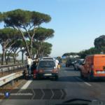 Primi problemi sulla Pontina: incidente in direzione nord