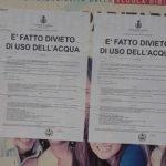 Protesta del Consigliere Porcelli contro il metodo di diffusione dell'ordinanza sull'acqua
