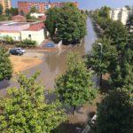 Nubifragio ad Aprilia: strade allagate in molte zone