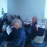 Protesta del Comitato Vallelata durante il Consiglio Comunale
