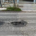 Le strade di Aprilia danneggiate dal maltempo