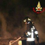 Casa distrutta da un incendio a La Cogna