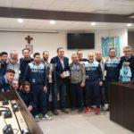 La United Aprilia premiata in Comune per il successo in Coppa