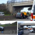 Incidente all'altezza di Campoverde, rallentamenti sulla Pontina in direzione Roma