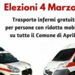 Elezioni 4 marzo, trasporto gratuito ai seggi per persone con ridotta mobilità