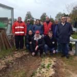 Visita alla serra fotovoltaica di Via Giustiniano per gli auguri di Pasqua