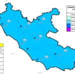 Torna il maltempo: codice giallo in tutto il Lazio