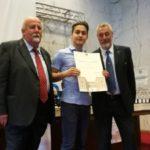 Il 16enne Simone Marchetti nominato Veterano dello Sport