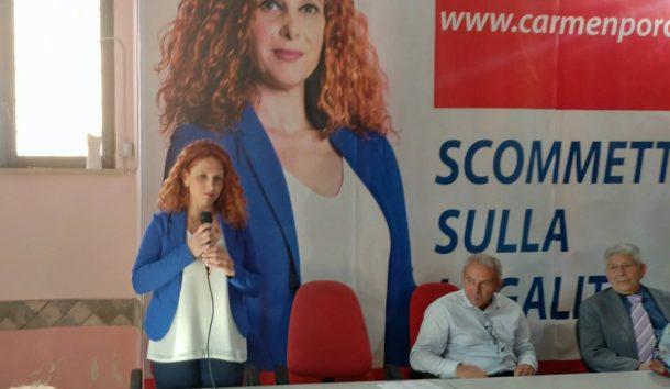 carmen porcelli presentazione liste e candidati elezioni