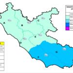 Allerta meteo codice giallo nel sud del Lazio