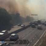 Incendio a Borgo Sabotino, sulla 148 tornano le fiamme