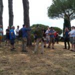 Militari inglesi in visita alla tenuta Calissoni-Bulgari