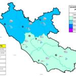 Maltempo nel Lazio, allerta meteo nel settore settentrionale della regione