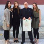 Il Maestro Maurizio Amato premiato dal UNVS per i 41 anni di carriera nel karate