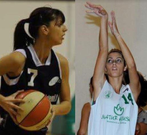 Paladino Sarah e Arianna virtus basket aprilia