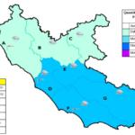 Maltempo in agguato, codice giallo in tutto il Lazio