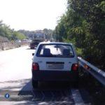 Auto ferma sulla carreggiata sud della Pontina, problemi a Castel di Decima
