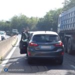 Incidente sulla Pontina, code in uscita da Roma