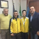 Giovani campioni apriliani crescono: Leonardo Marinucci ricevuto dal Sindaco