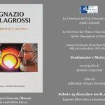"""""""Sentimento e Materia"""", oggi la presentazione della monografia di Ignazio Colagrossi"""