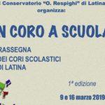 """""""In Coro a Scuola"""", a Latina la 1ª Rassegna di Cori Scolastici"""