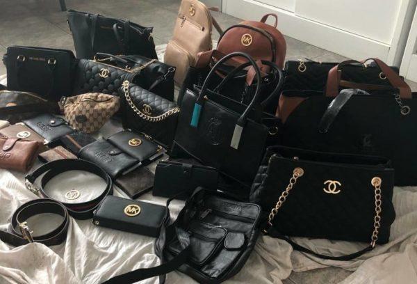 borse e cinture contraffatte mercato sabato la malfa