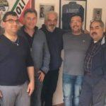 Il candidato per le europee di Fratelli d'Italia Luca Romagnoli ad Aprilia.