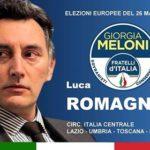21 maggio incontro con Luca Romagnoli, candidato alle Europee per F.d.I.
