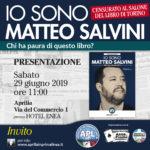 """APL presenta il libro: """"Io sono Matteo Salvini"""" di Chiara Giannini."""