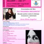 """Anna Silvia Angelini presenta il suo libro """"La violenza declinata""""."""