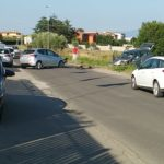 Grave incidente in via Vallelata: due feriti ed eliambulanza sul posto.
