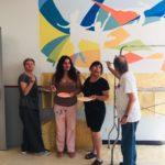 """""""Più colori alla ASL"""", l'iniziativa artistica curata dal Maestro De Waure."""