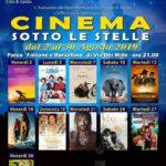 """Torna il """"Cinema sotto le stelle"""" apriliano. Proiezioni dal 2 al 30 agosto."""